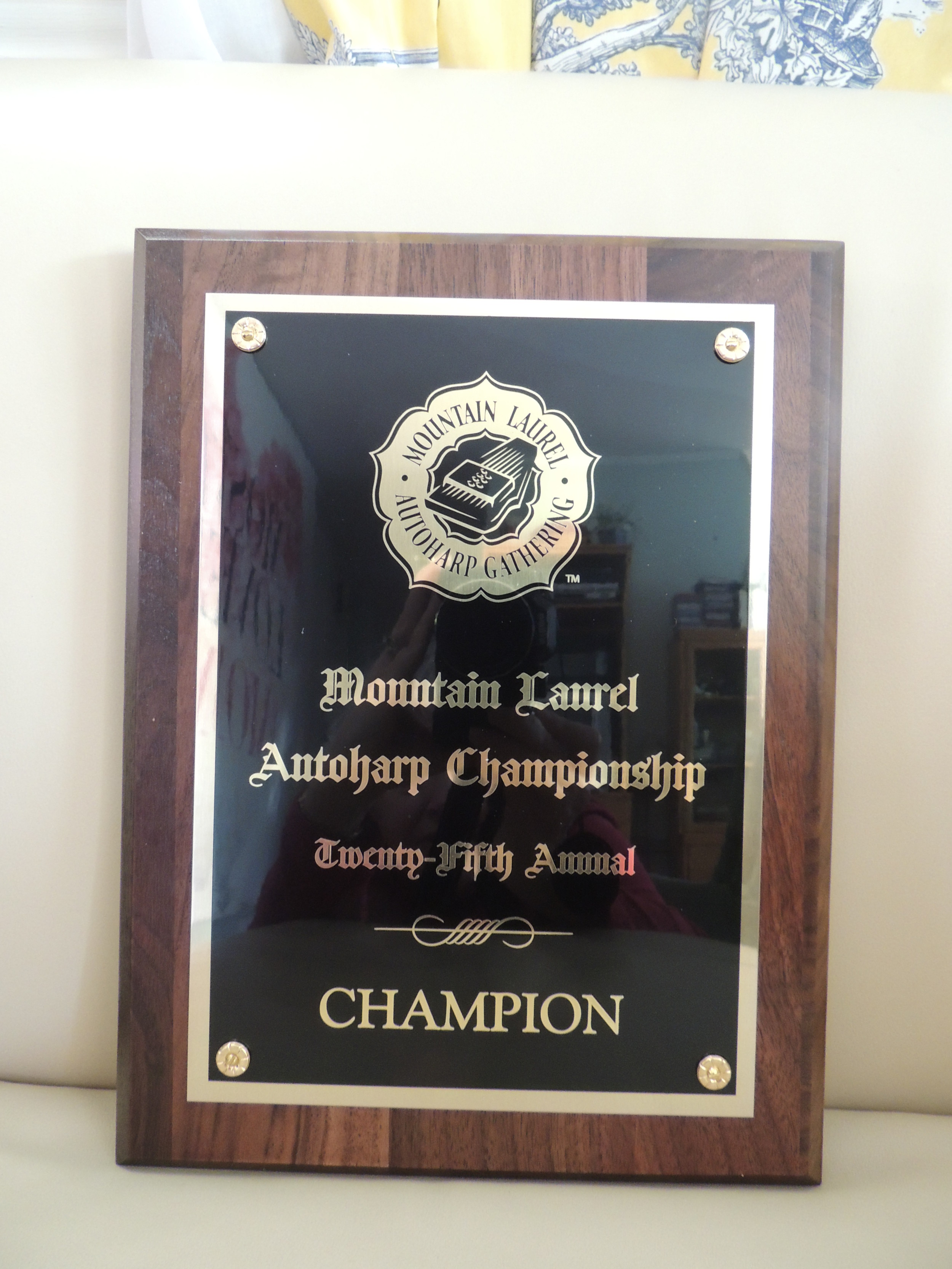 2015 Championship plaque